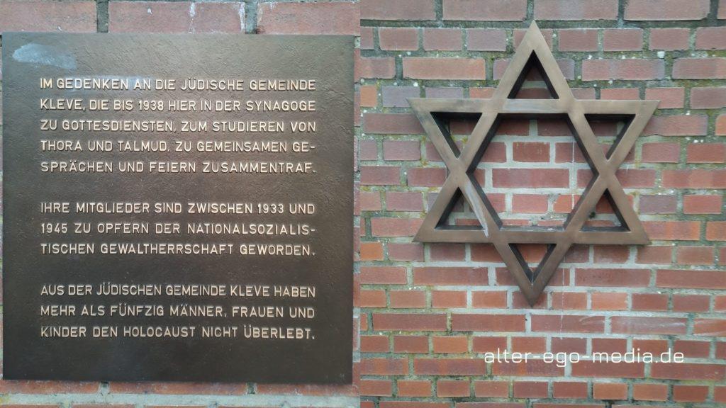 Мемориальная доска в Клеве погибшим евреям