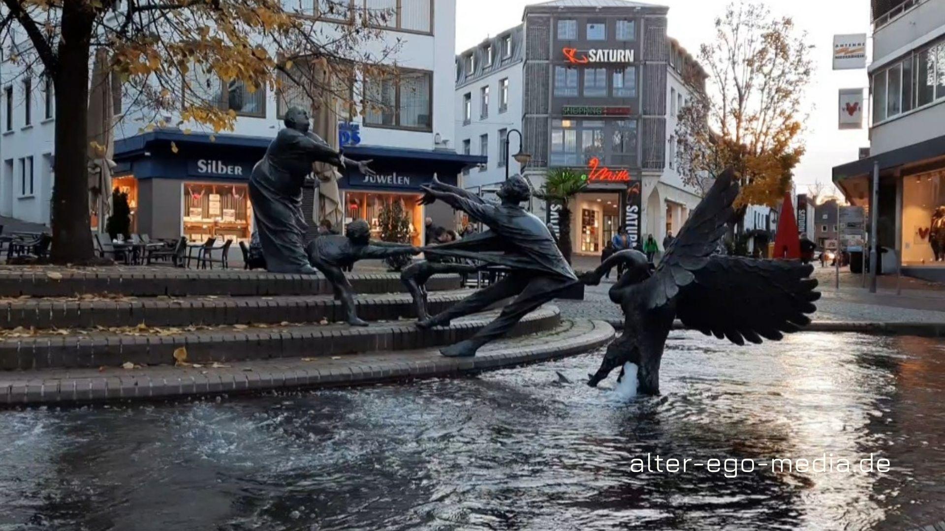 Фонтан Лоэнгрин (Lohengrinbrunnen) Kleve NRW
