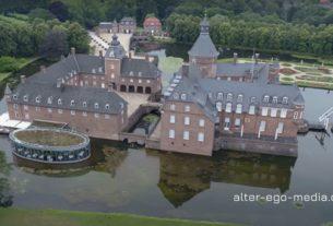 Замок Anholt вид с дрона